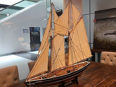 Bluenose 120x103x19cm Handcrafted Wooden Model Sailing Boat Ship Antique Pearl