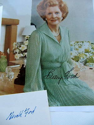Gerald & Betty Ford - United States President - Autographs