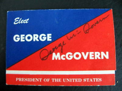 GEORGE McGOVERN - UNITED STATES POLITICIAN - AUTOGRAPH