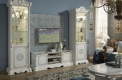 Greta Traditional white Living/Dining room furniture with diamanté inserts