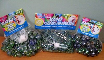 TIME 2 PARTY Glass Marbles (BULK LOT of 3) NEW SEALED Toy Games Display - In Aus