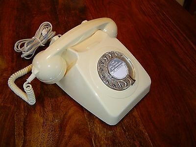 Rare New Old Stock Vintage Gpo Bt 746 Rotary Dial Telephone -  80's Retro Phone