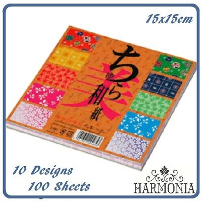 Japanese Origami Paper Washi Chiyogami  15cm x 15cm 100sheets 10designs