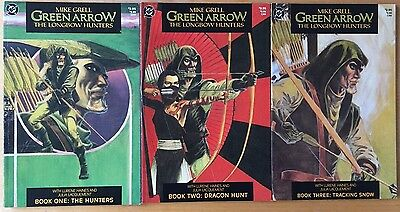 GREEN ARROW - THE LONGBOW HUNTERS #1-3 COMPLETE SET - Mike Grell