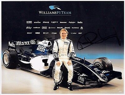 Nico Rosberg SIGNED 11x8  Williams-Cosworth FW28, New Car Launch 2006