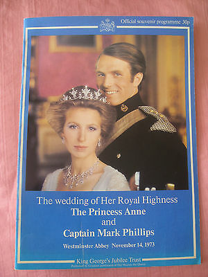Official Programme for wedding of Princess Anne to Captain Mark Phillips