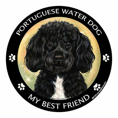 My Portuguese Water Dog Black Is My Best Friend Dog Car Magnet