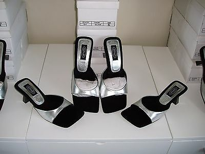 12 Pairs New  Wholesale Womens Branded Schuh Job Lot Boxed Silver Heels Shoes