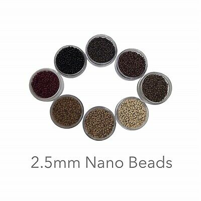 ~ 2.5mm Nano Rings Beads for Nano Tip Hair Extensions 8 Colours ~ Phoebe's ~