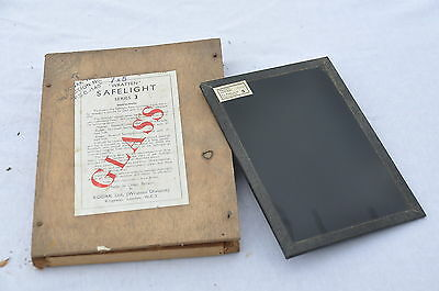 "KODAK ""wratten"" Safelight glass series 3 darkroom verre chambre noire"
