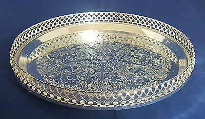 Beautiful Silver Plated Gallery Tray