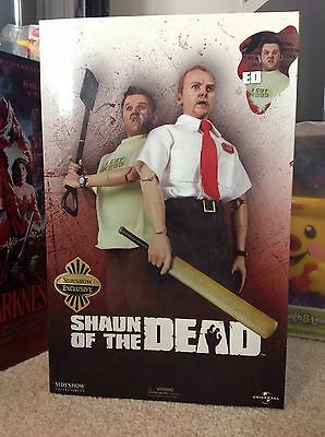 """Shaun of the Dead Sideshow Exclusive 12"""" Ed Figure Nick Frost"""