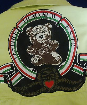 "SHIRT woman vintage 90's woman MOSCHINO JEANS ""Bear""  made in Italy TG.S  Rare"