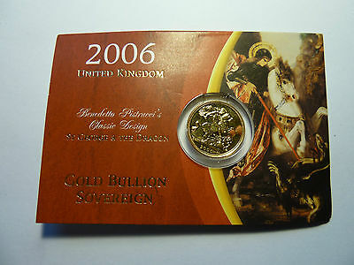 2006 Royal Mint Brilliant Uncirculated 22ct Gold Sovereign - Carded