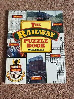 The Railway Puzzle Book by Will Adams (Paperback, 1989)