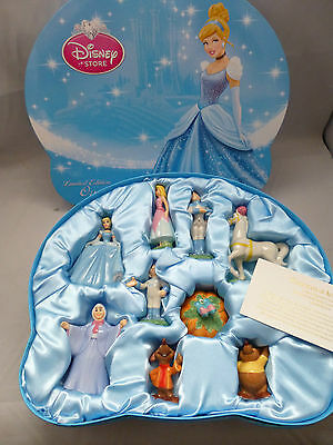 NEW Disney Store Limited Edition Princess Cinderella Ceramic Figurines Set