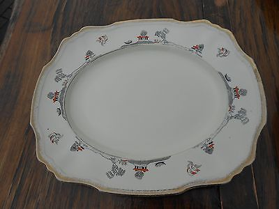 "3 Alfred Meakin Marigold Astoria Shape Willowette Serving Plates 14.5"" x 12"""