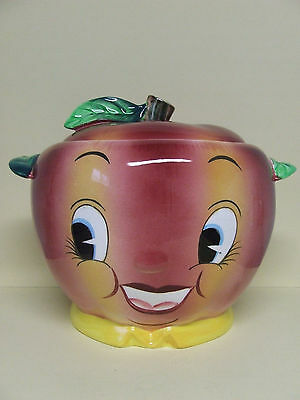Vintage PY Anthropomorphic Smiley Face Apple/Fruit Cookie Jar