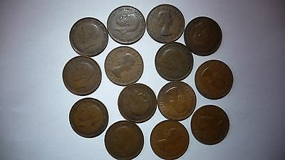 A Mixed Lot of British Pennies, Half Pennies and Three Pence Pieces. 60 Coins