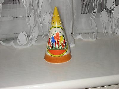 Clarice Cliff Hand Painted Crocus Design Sugar Shaker By Moorland Pottery Mint