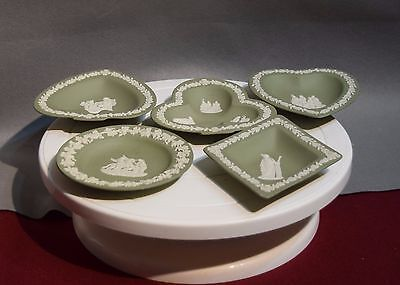 Wedgwood Jasperware Collection Of Trays In Green