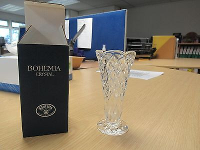 Bohemia Lead Crystal bud Vase - new and boxed  great gift