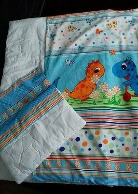 cot bed quilt set with dinosaurs cover set for baby toddler