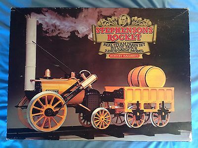 Hornby Stephenson's Rocket Live Steam G100 And 2 Boxes Of Extra Track G102 Mamod