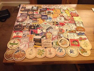 Job Lot Assorted Collection Of Over 100 Beer Mats / Coasters