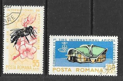 1965 Romania Bees full set of 2 stamps that are cancelled to order