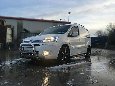 2016+ Citroen Berlingo Stainless Steel A Bar Bumper Bar Bullbar + Chrome Spots