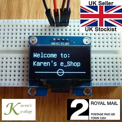 "1.3"" 128x64 IIC I2C SPI OLED Display Module for Arduino White/Blue"