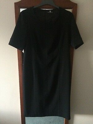 Little Black Smart Day Dress Size 16 (small)