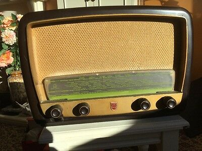 Vintage Phillips Radio Receiving Signals For Restoration Spares Or Repair 341A