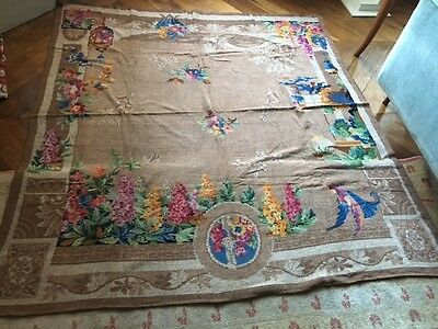Antique/vintage Chenille Tablecloth/throw