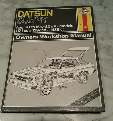 Datsun Sunny All Models 78 To 82 Haynes Manual coupe, fastback, estate, van, sal