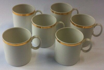 6 Thin Gold Band Coffee Cups Thomas Rosenthal Germany
