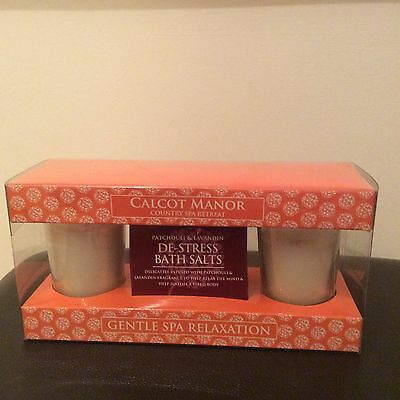Brand new in box. De stress bath salts and 2 candles gift set.