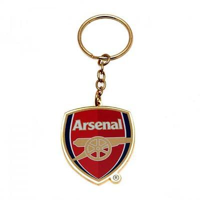 Arsenal FC Official Metal Crest Keyring Brand New