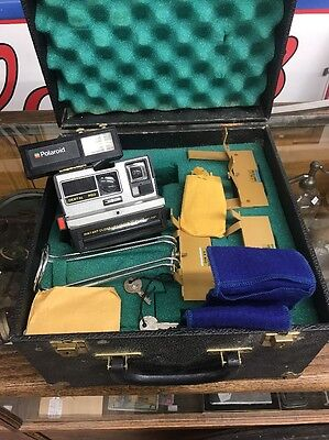 Vintage Polaroid Dental Pro USC Trojans Campus Camera With Case Very Rare