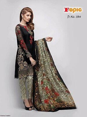 FEPIC ROSEMEEN Pakistani Style Salwar Kameez Material Indian bollywood