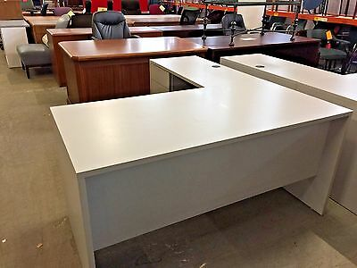 5' x 6' L-SHAPE DESK by GLOBAL OFFICE FURNITURE in GRAY COLOR LAMINATE