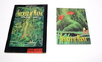 Secret of Mana Manual & Map Super Nintendo SNES *VG Condition* Fast Shipping