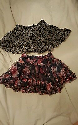 H&M girls 18-24 skirts pink black X2