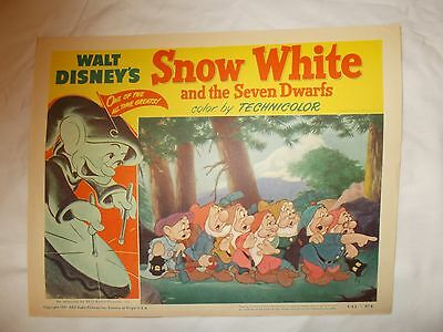 Disney's Snow White 1951 Release Lobby Card