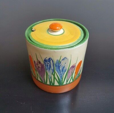 Clarice Cliff Preserve Pot With Lid