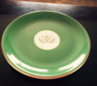 Vintage Shenango China Dinner Plate Restaurant-Ware Double C Country Club Green