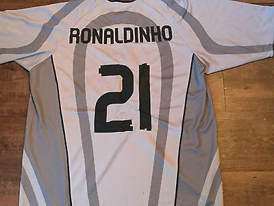 2001 2002  PSG Paris Saint Germain Ronaldinho Away Football Shirt Adults XL