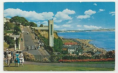 Old Postcard, Cliff Walk and Lift, Shanklin, Isle of Wight, Posted 1969