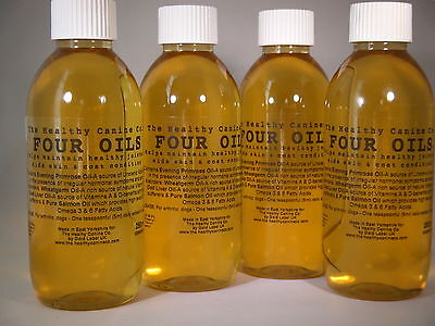 Four Oils for Dogs Gold Label Omega 3 & 6 for Skin & Coat Joint Care 1L